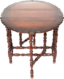 Antique Victorian Gate-Leg table with folded legs and table-top flaps